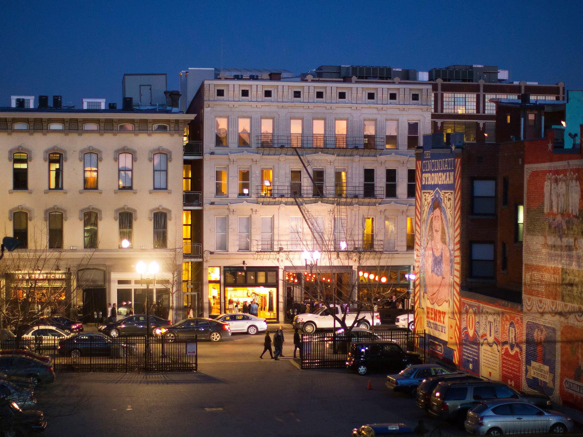 The view of Vine Street from Anntoinette Jones' apartment.
