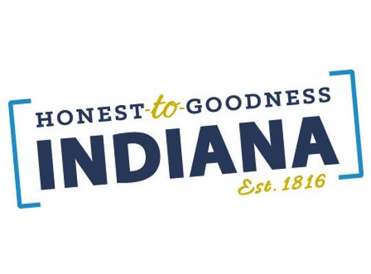 """Honest-to-Goodness Indiana"" slogan logo"