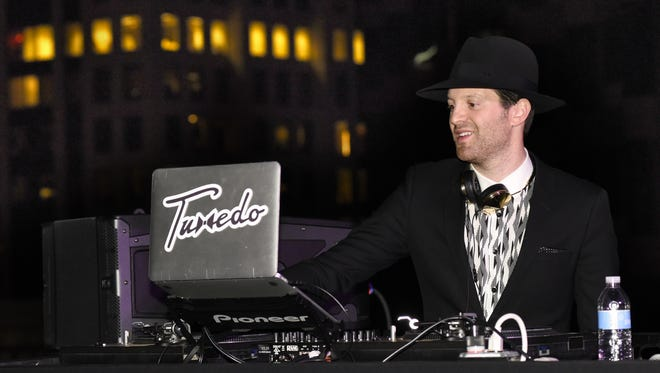 """Mayer Hawthorne returned to the DJ booth to spin at an event last month at SXSW in Austin, Texas. """"DJ-ing is my comfort zone really,"""" he says .""""I can hide behind the turntables."""""""