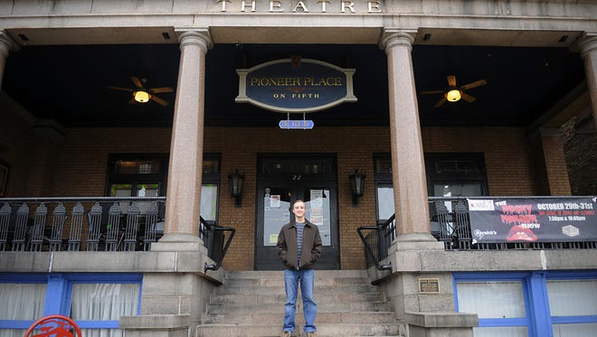 John Scott, director of St. Cloud Film Fest, stands outside Pioneer Place on Fifth on Oct. 7, 2015. Pioneer Place is one of the venues for the festival.
