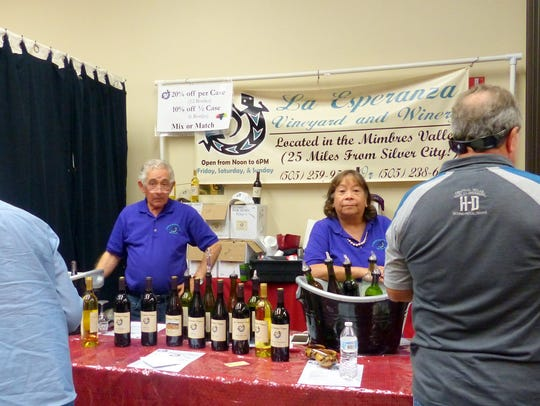 Representatives of wineries across the state as well