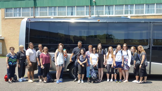 An excited group of Our Lady of Mercy Academy students, faculty and family members departed on June 20 for a trip to Italy and Greece.