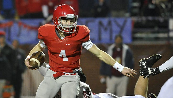 Brentwood Academy quarterback Jeremiah Oatsvall helped lead the Eagles to the Division II-AA state championship.