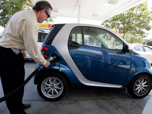 Urban cow tipping? Vandals turn over Smart cars in San Francisco