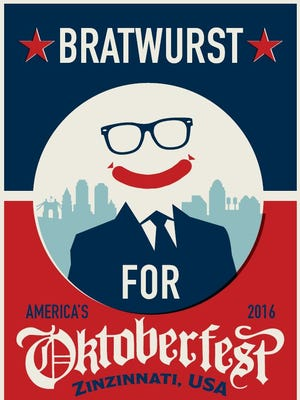 One of the Oktoberfest political poster for the 40th anniversary festival.