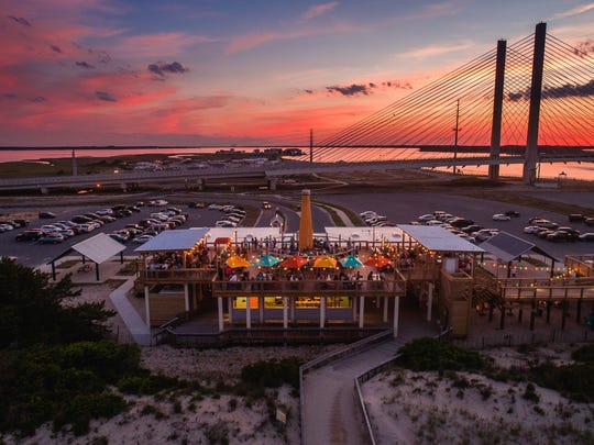 The Big Chill Surf Club at the Indian River Inlet offers quite a view for Sunday Funday get-togethers.