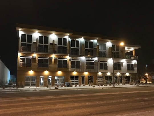 A photo of the downtown Brookings building that will