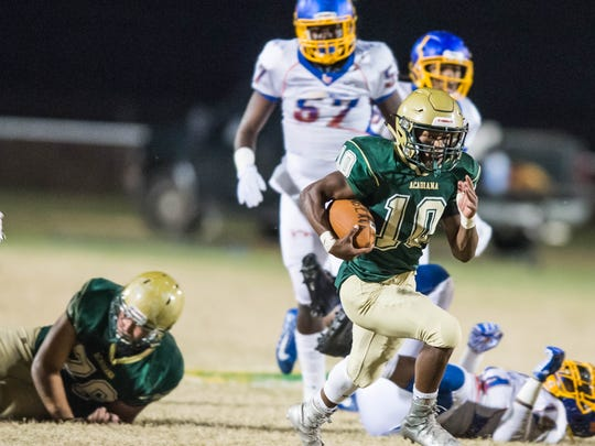 Avoiding turnovers will be a big key for Acadiana High halfback Dillon Monette and the Rams' offense in Friday's Class 5A state quarterfinal game at Live Oak.
