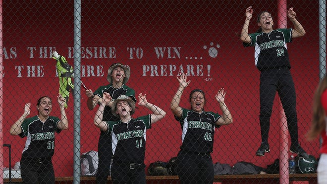 Yorktown defeated North Rockland 4-1 to win the Section 1 Class AA championship at North Rockland High School  May 27, 20173