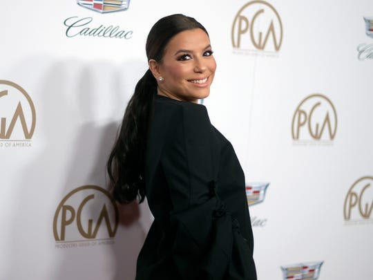 Eva Longoria arrives at the 29th annual Producers Guild Awards at the Beverly Hilton.