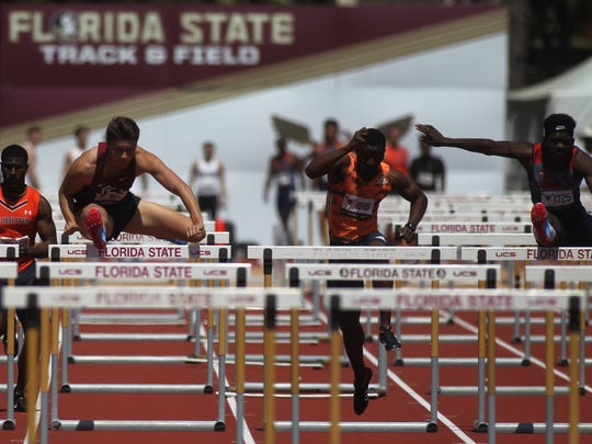FSU's Trey Cunningham races to a win in the 110-meter
