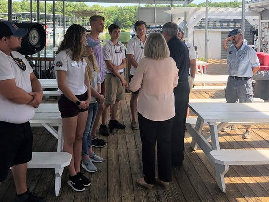 Gov. Mike Parson stopped by the State Park Marina early