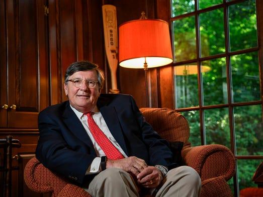 Tennessee House Minority Leader Craig Fitzhugh sits