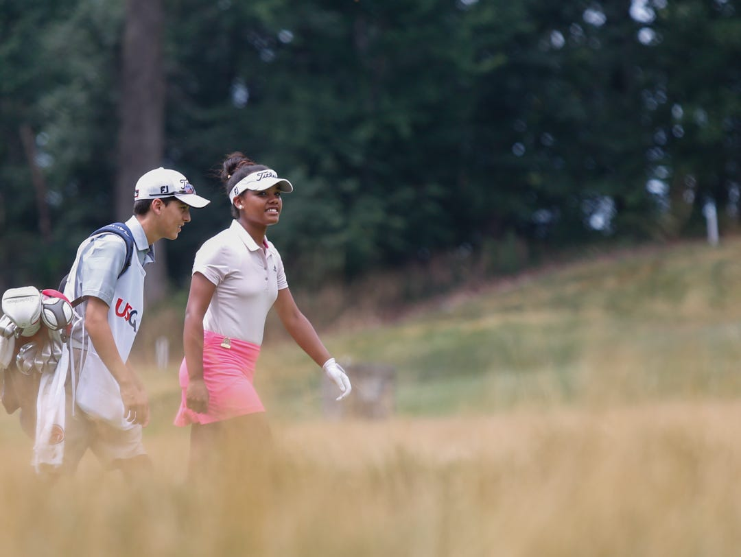 Kyra Cox, 16 from South Salem competes in the 68th U. S. G. A. Girls Junior Amateur Championship at The Ridgewood Country Club in Paramus on Monday, July 18, 2016. Kyra Cox recently played in the 2016 Drive, Chip & Putt National Championship at Augusta National and was the Metropolitan PGA Player of the Year three consecutive times from 2013 to 2015.