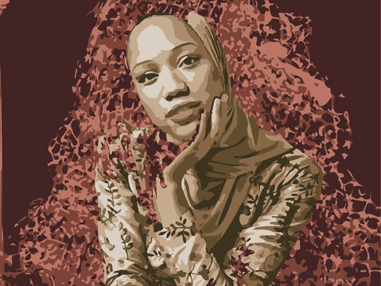 """This work by Muslim Feminists for the Arts will be among those on display in New Brunswick and Highland Park storefronts during the monthlong """"Windows of Understanding"""" project."""