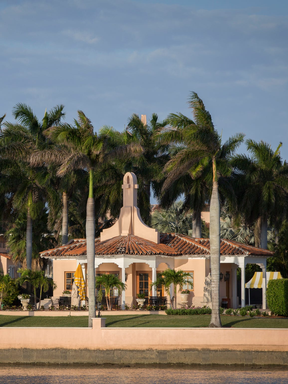 A view of Donald Trump's club at Mar-A-Lago, a few