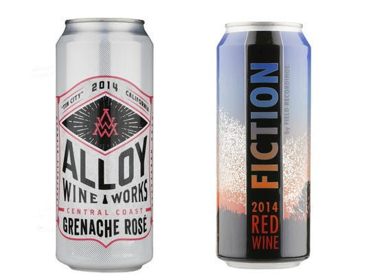 Canned offerings from Field Recordings wineries.