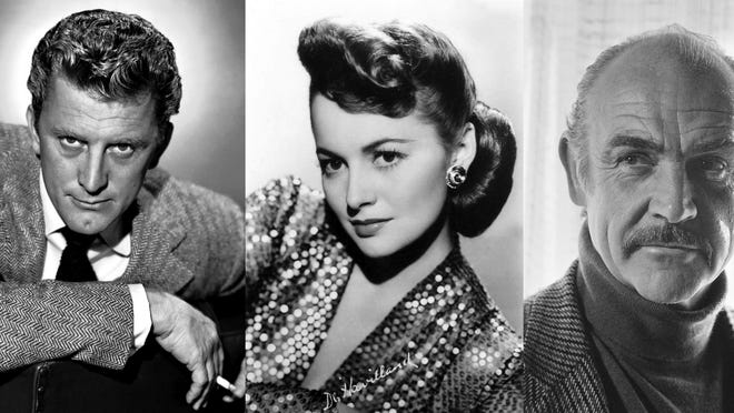 Kirk Douglas, Olivia de Havilland and Sean Connery.