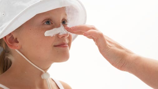 Apply sunscreen generously to your entire body 30 minutes before going outside and after swimming or sweating.