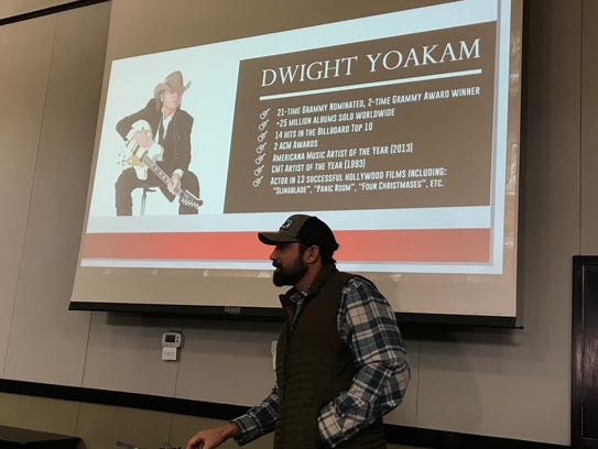 Mark Powell announces Dwight Yoakam as the headline