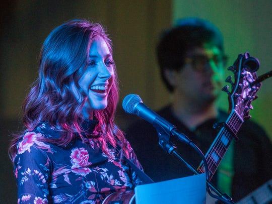 Marbury teen singer Abigail Douglas greets her fans,