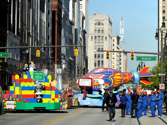 "The newest float in America's Thanksgiving Parade, sponsored by Quicken Loans, was unveiled to the public Friday, October 28, 2016. Called ""Detroit -- City of Possibilities,"" it is more than 100 feet long and made of steel and wood. The float will appear in the 90th America's Thanksgiving Parade on Nov. 24."