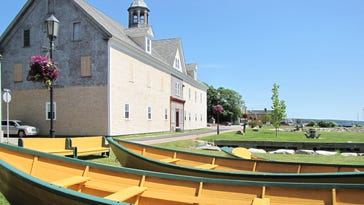 8655 New dories sit outside the J.S. Williams Dory Shop in Shelburne, which has been producing the small boats since  [Via MerlinFTP Drop]