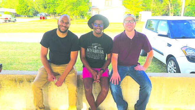 (From left) Ethan Chance, Marcus Collick, and Aaron Stokes all spoke at  the Black Lives Matter rally that happened last Thursday at the Haviland Park.