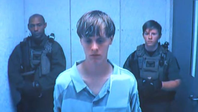 This image made from video shows Dylann Roof, 21, during a court appearance Friday in a Charleston court.