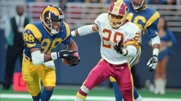 Eddie Kennison was a first-round draft choice of the St. Louis Rams in