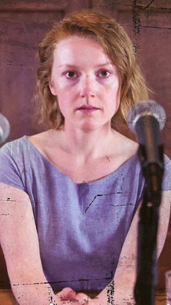 """Sylvie Davidson, pictured on a promotional flyer for ACT's """"The Crucible."""""""