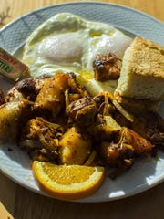 The Down Home Breakfast - two eggs over easy with home