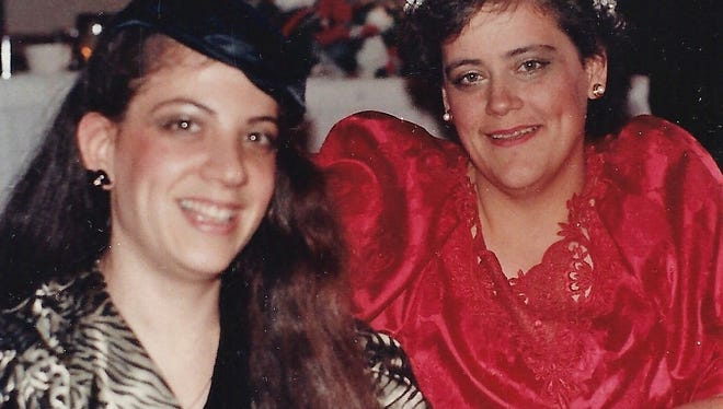 Robin Horowitz Miller and her longtime friend Sue Miller, who was her roommate at The College at Brockport in the 1970s, pictured in 1987.
