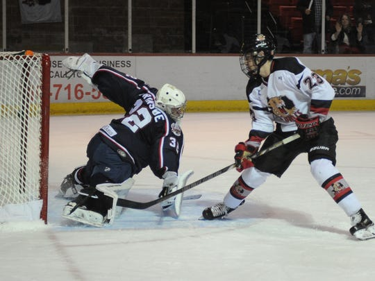 C.J. Walker scored his first career goal with the Wildcats in their 6-5 win against the Topeka RoadRunners Saturday.