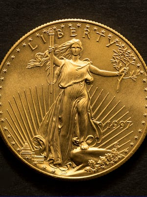 This 1997 Liberty Gold BU coin was found in a Salvation Army red kettle in Garden City