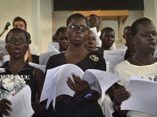 South Sudan Orphans and Song