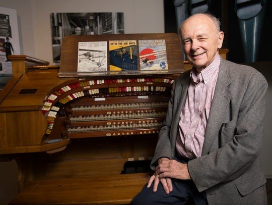 Paul Stapel with a Link C. Sharpe Minor Unit organ