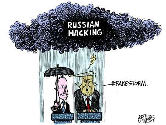 President Trump throws his support behind Putin.