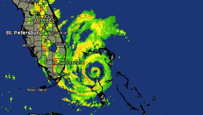 Radar image of Hurricane Matthew as of 2 p.m. Thursday, Oct. 6, 2016.