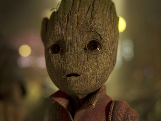 Baby Groot, voiced by Vin Diesel, appears in a scene
