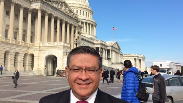 Salud Carbajal, who was elected to the congressional seat held by the retiring Lois Capps, was sworn in Tuesday and took his first votes.