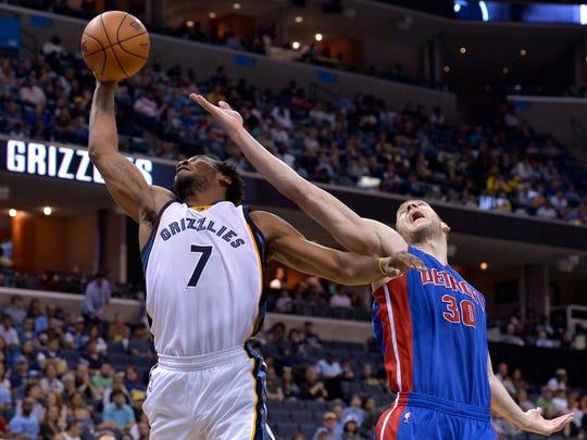 Memphis Grizzlies guard Wayne Selden (7) and Detroit