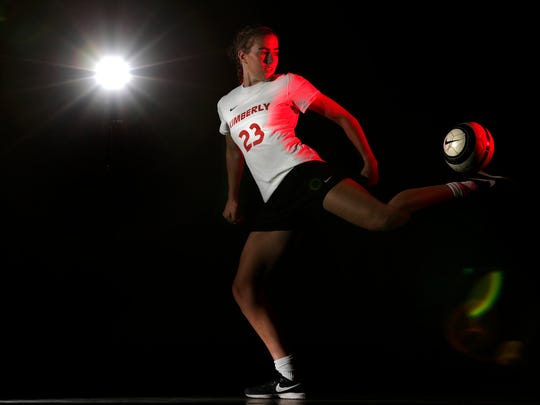 Kimberly's Elsi Twombly is the Post-Crescent's girls soccer athlete of the year. Danny Damiani/USA TODAY NETWORK-Wisconsin