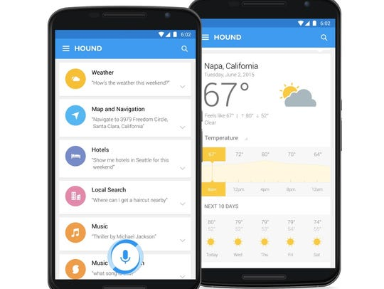 Hound comes loaded with dozens of categories, but SoundHound