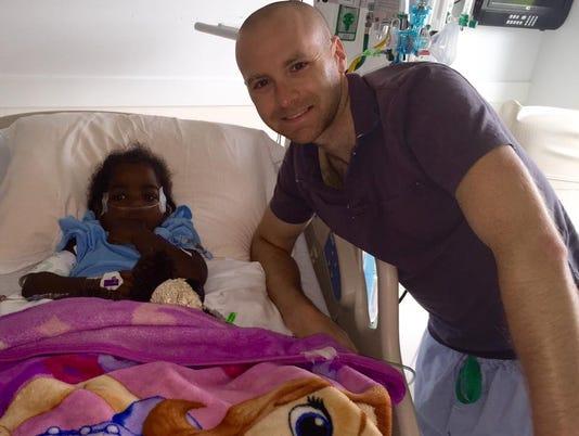 Tim and Brielle meet following surgery
