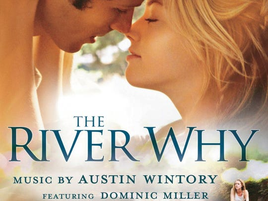 "The movie poster of ""The River Why,"" a novel by David"