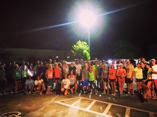 Close to 80 runners and walkers came out for the Tuesday night get-together of Running for Brews in Satellite Beach.