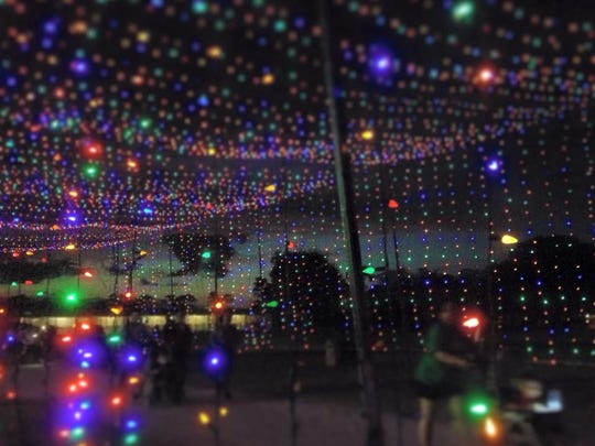 The sparkling holiday lights made for a magical backdrop for a run. There are lots of 5Ks and other fitness events this time of year that raise money for a good cause.