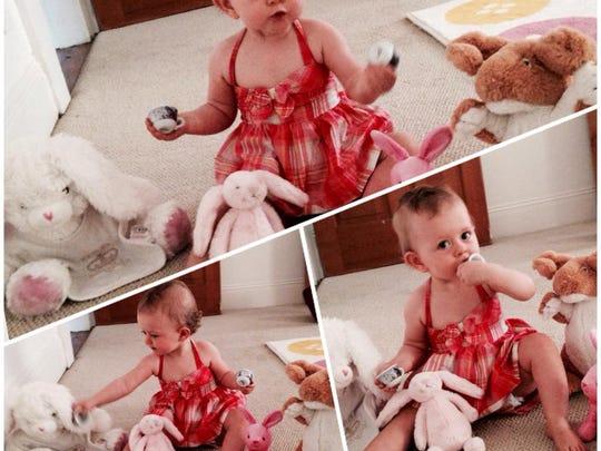 Sarah Ivens' daughter, Matilda, enjoys tea time.