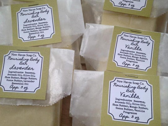 Homemade lotion bars from the New Haven Soap Company.